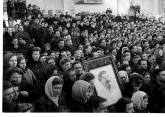 Death of Stalin, Mourning ceremony, Gorky Tank Factory, Kiev, 6 March 1953