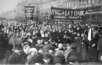 Demonstration in St Petersburg International Women's Day, 23 February 1917