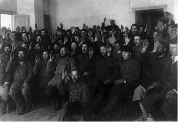 Russian Civil War, Bolshevik party, Voting