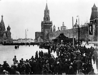 Lenin's funeral, Moscow, Red Square, January 1924